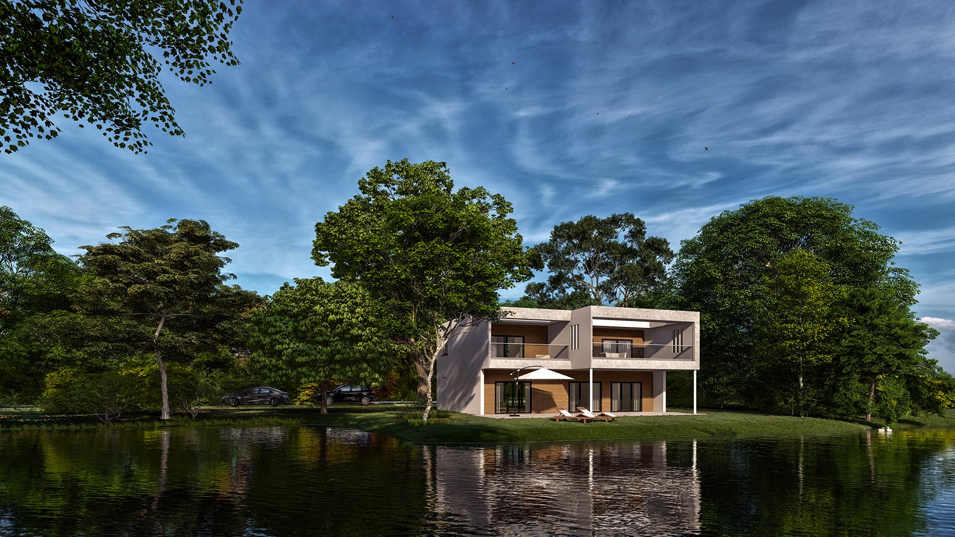 Visualisierung Einfamilienhaus bei Venlo