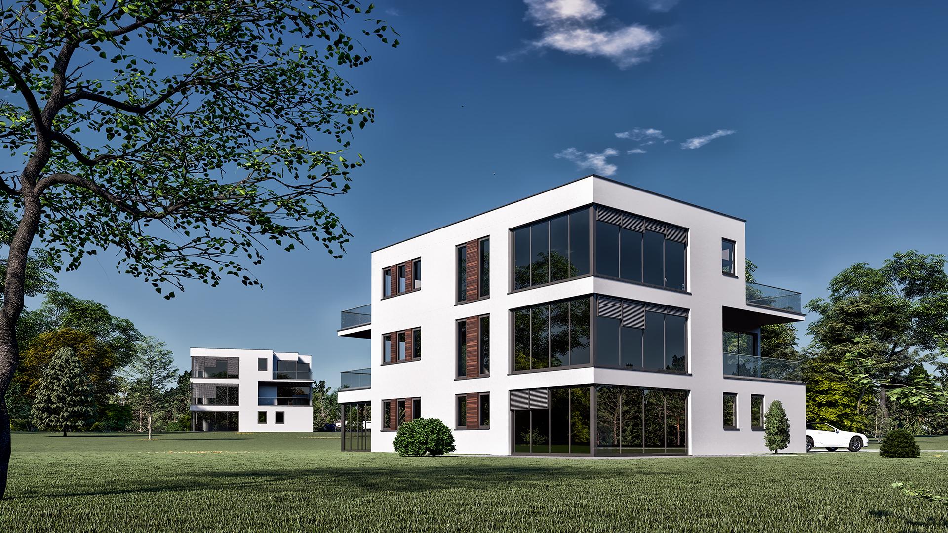 Visualisierung Mehrfamilienhaus Lörrach