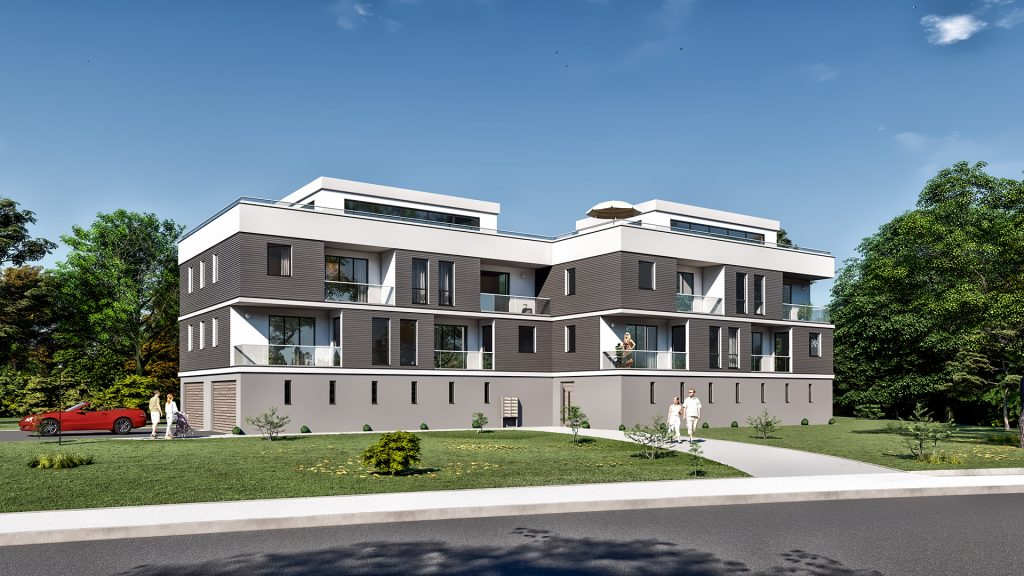 Visualisierung Mehrfamilienhaus in Rastatt